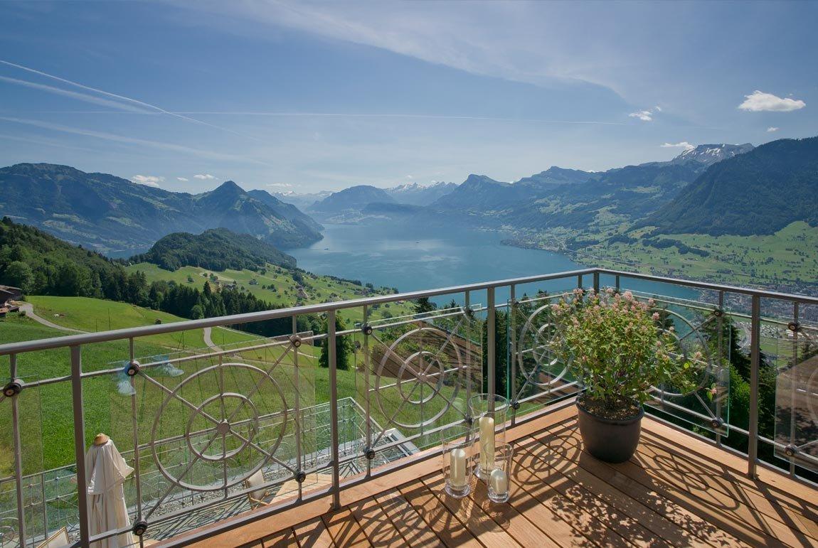 Hotel Villa Honegg avec junior suite lake view | hotel villa honegg bürgenstock