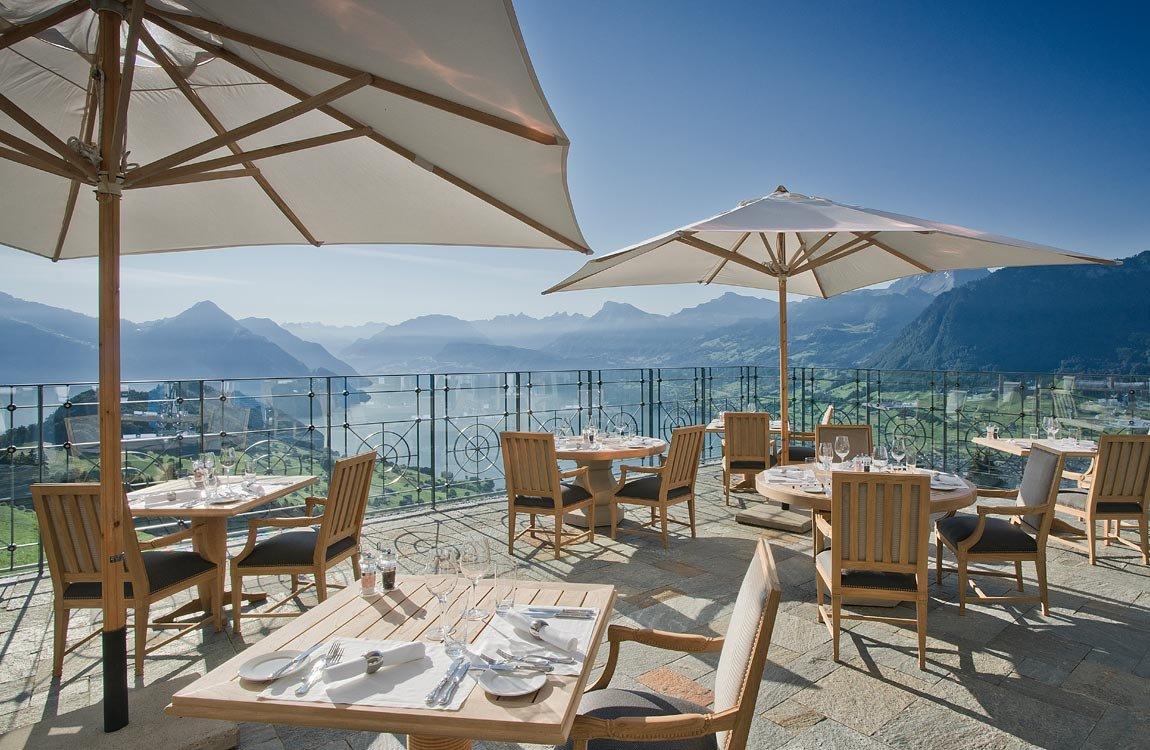Restaurant Amp Terrassenlounge Hotel Villa Honegg B 252 Rgenstock
